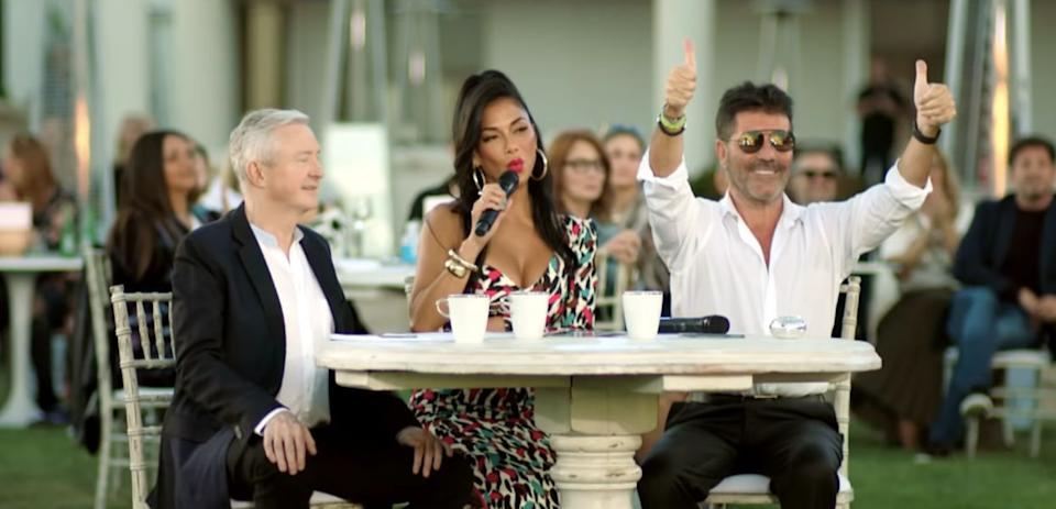 Louis Walsh, Nicole Scherzinger and Simon Cowell are back for X Factor: Celebrity (Photo: ITV)