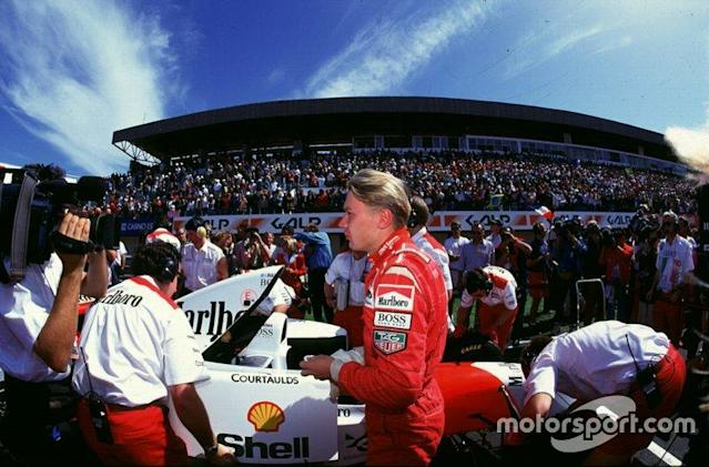 """Mika Hakkinen in his first race for McLaren Ford <span class=""""copyright"""">Motorsport.com</span>"""