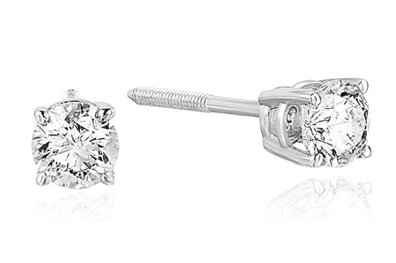 Vir Jewels 2/3 cttw 14K Certified Diamond Stud Earrings. (Photo: Amazon)