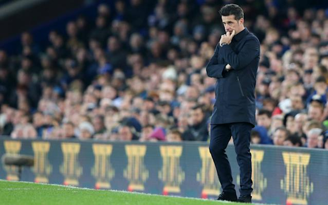 Marco Silva appears to have little support from the board or the stands - Getty Images Europe