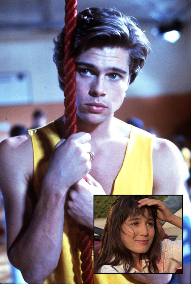 "ACTOR: <a href=""http://movies.yahoo.com/movie/contributor/1800018965"">Brad Pitt</a>  MOVIE: ""Cutting Class"" (1989)    One of Brad Pitt's first big-screen roles was in the straight-to-VHS slasher flick ""Cutting Class."" Pitt played Dwight, the lunkhead jock who, along with his cheerleader girlfriend (Jill Schoelen), deduces that the recent rash of high-school slayings might be the handywork of his childhood friend Brian (Donavan Leitch), who was just released from a mental hospital for killing his father. It's the sort of movie that features a gym teacher getting impaled on a flag pole, a strange comedic subplot involving a wounded Martin Mull, and a climactic scene revolving around a math problem. It also ends '80s-style: with a lame joke and a freeze frame.    During production, Brad started dating his co-star Jill Schoelen. The relationship lasted a couple of months and by some accounts, the two were engaged. Then she went off to Budapest to shoot another movie. One day, she called him up, begging him to come to Europe.""I had 800 dollars to my name,"" Pitt recalled in an <a href=""http://www.thesun.co.uk/sol/homepage/woman/3531972/HEART-throb-actor-reveals-things-he-wishes-he-had-known-at-the-age-of-18.html"">interview</a>. ""I spent 600 of it getting a ticket from L.A. to Hungary to see her.""    Unfortunately, when he arrived, he learned that she had already fallen for the movie's director. Pitt was left stranded. ""I spent my night in Budapest, sitting on a bench, smoking, with just a local bum to talk to who couldn't speak English.""    Pitt's big break happened two years later with his appearance in ""Thelma and Louise."""