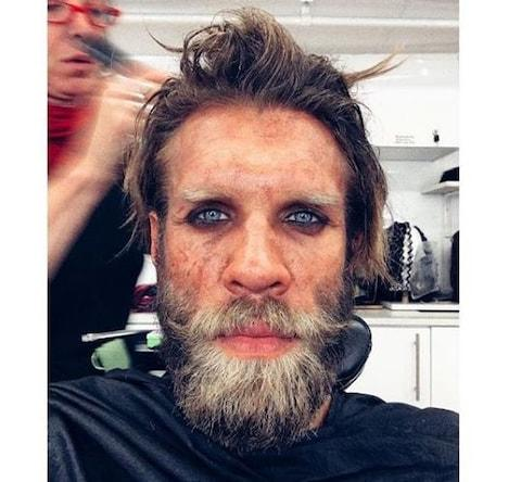Marc Rissman in hair and make-up for Into the Badlands