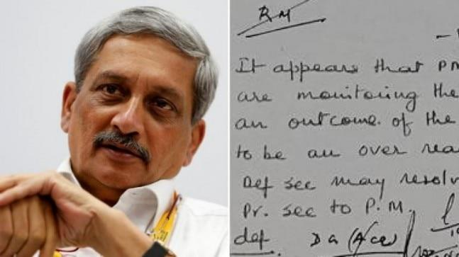 Manohar Parrikar's handwriting would turn teacher's pets across India green with envy. But there's a larger story here involving a newspaper report and a deal for Rafale fighter planes. And politics galore. Read on.