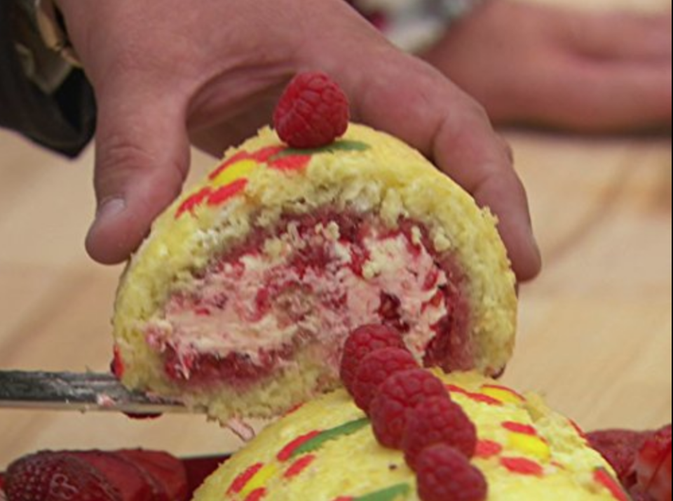 """<p>Again, the show restricts contestants from <a href=""""https://www.express.co.uk/celebrity-news/1185837/Great-British-Bake-Off-2019-karen-wright-contestants-rules-news"""" rel=""""nofollow noopener"""" target=""""_blank"""" data-ylk=""""slk:bringing any recording device"""" class=""""link rapid-noclick-resp"""">bringing any recording device</a>, including cameras, into the tent.</p>"""