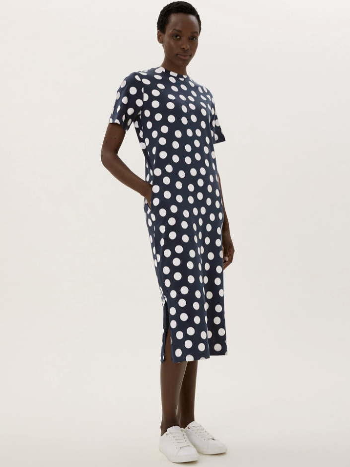 The affordable dress comes in several designs.  (Marks & Spencer)