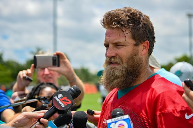 Ryan Fitzpatrick should not be an option to start for the Miami Dolphins. (Getty)