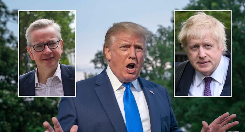 Donald Trump spoke to Boris Johnson on the phone and requested a meeting with Michael Gove (Getty Images)