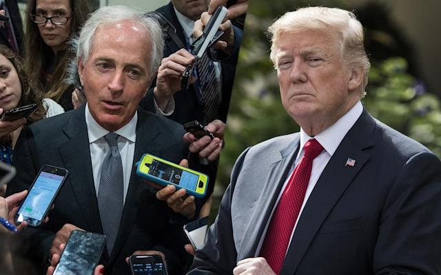 Sen. Bob Corker and President Trump (Photos: Drew Angerer/Getty Images; Jabin Botsford/The Washington Post via Getty Images)