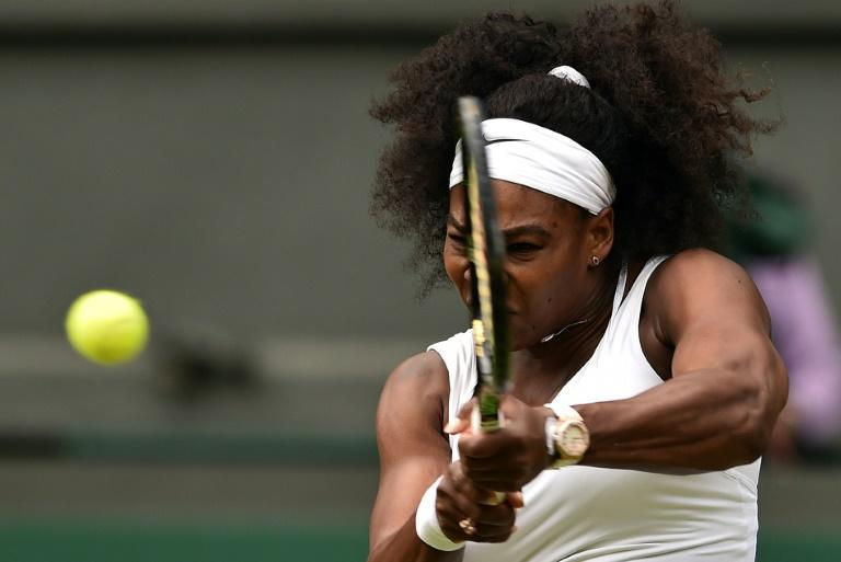 Serena Williams in action at the 2015 tournament (AFP Photo/LEON NEAL)