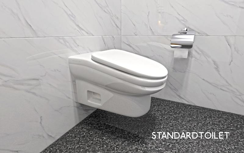 The StandardToilet slopes forward at a slight angle. [Photo: StandardToilet]