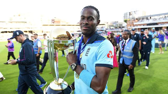 Jofra Archer was integral to England's World Cup triumph. Pic: Getty