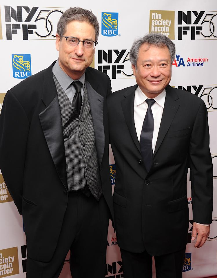 """NEW YORK, NY - SEPTEMBER 28: Tom Rothman and director Ang Lee attend the Opening Night Gala Presentation Of """"Life Of Pi"""" at the 50th New York Film Festival at Alice Tully Hall on September 28, 2012 in New York City.  (Photo by Jamie McCarthy/Getty Images)"""