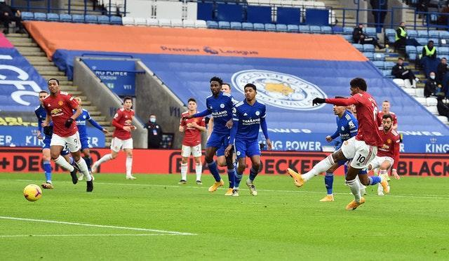 Marcus Rashford opening the scoring in the first half