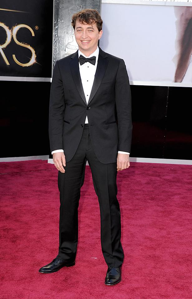 Benh Zeitlin arrives at the Oscars in Hollywood, California, on February 24, 2013.