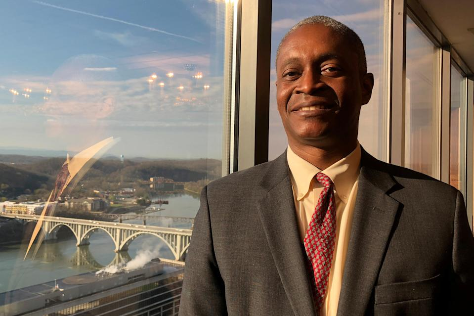 Raphael Bostic, President of the Federal Reserve Bank of Atlanta, poses for a photo in Knoxville, Tennessee, U.S., March 23, 2018. REUTERS/Ann Saphir