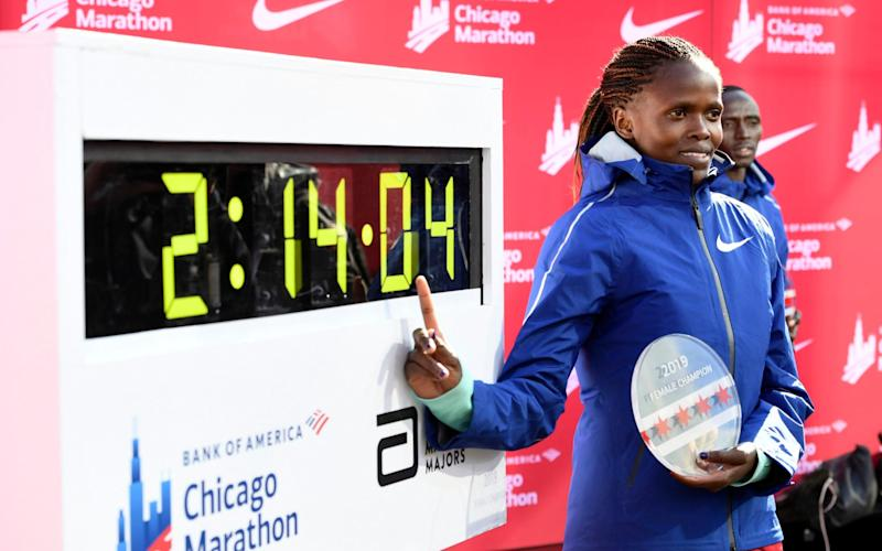 Brigid Kosgei is confirmed to defend her title in the women's race - AP