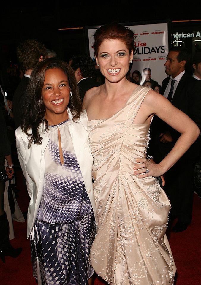 """<a href=""""http://movies.yahoo.com/movie/contributor/1802957605"""">Alison Swan</a> and <a href=""""http://movies.yahoo.com/movie/contributor/1802866877"""">Debra Messing</a> at the Los Angeles premiere of <a href=""""http://movies.yahoo.com/movie/1809991685/info"""">Nothing Like the Holidays</a> - 12/03/2008"""