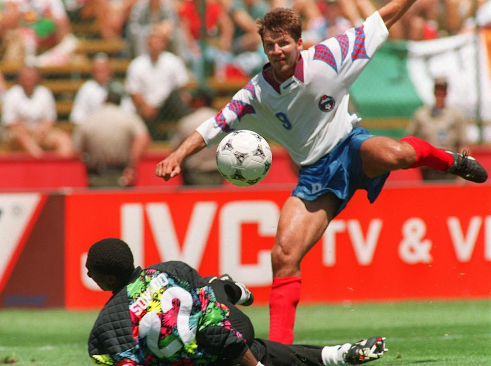 Oleg Salenko destroyed Cameroon to become the only player to score five times in a World Cup game.