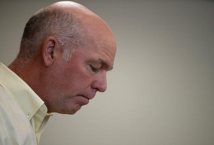 Republican congressional candidate Greg Gianforte in Missoula, Mont. (Photo: Justin Sullivan/Getty Images)