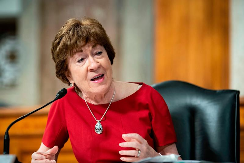 GOP Sen. Susan Collins of Maine could be facing a massive financial hole in her bid for reelection.  (AL DRAGO via Getty Images)
