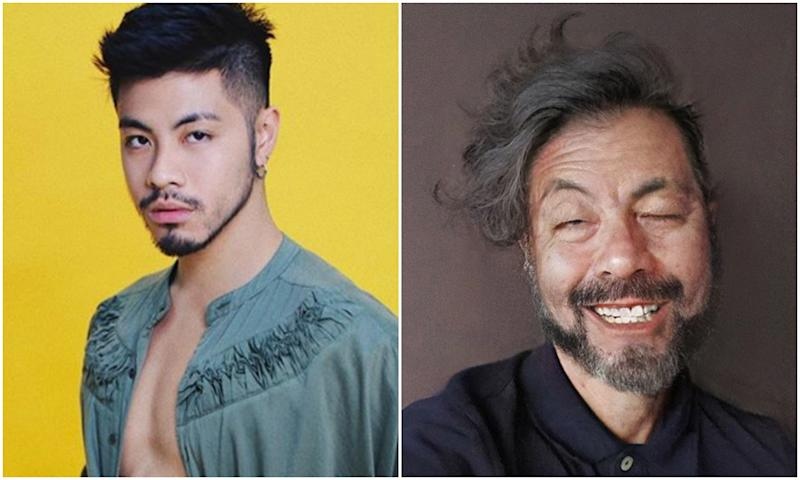 Singaporean actor-singer Benjamin Kheng joined a FaceApp challenge to make himself look older in photos. (Photos: Benjamin Kheng/Instagram)