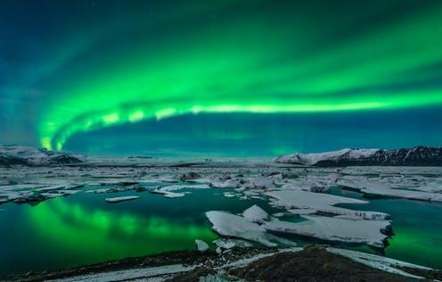 """<span class=""""attribution""""><a class=""""link rapid-noclick-resp"""" href=""""https://www.shutterstock.com/image-photo/spectacular-auroral-display-over-glacier-lagoon-143438332"""" rel=""""nofollow noopener"""" target=""""_blank"""" data-ylk=""""slk:John A Davis/Shutterstock"""">John A Davis/Shutterstock</a></span>"""