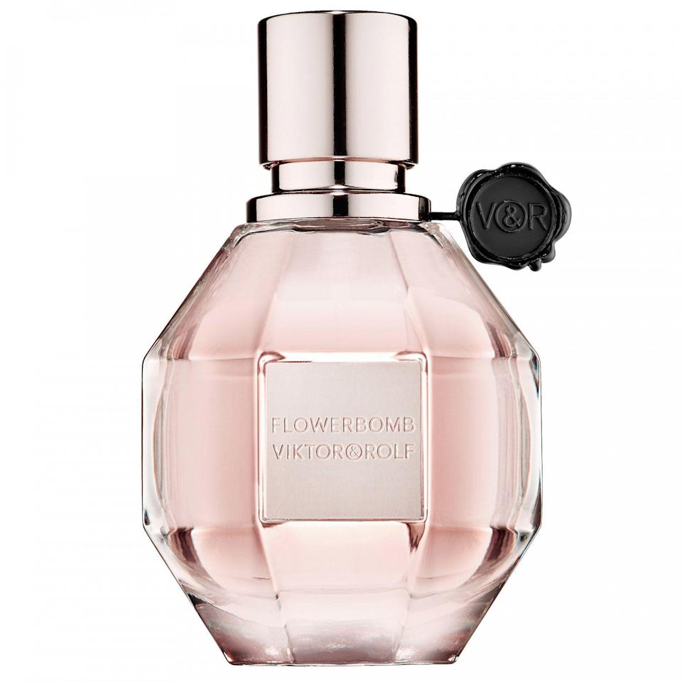 """<p><strong>Sadhbh O'Sullivan, Social Media Assistant</strong></p><p><strong>The perfume:</strong> <strong>Viktor & Rolf</strong> Flowerbomb Eau de Parfum For Her, £53 for 100ml, available at <a href=""""https://www.theperfumeshop.com/viktor-rolf/flowerbomb/eau-de-parfum-for-her/p/30100EDPJU"""" rel=""""nofollow noopener"""" target=""""_blank"""" data-ylk=""""slk:The Perfume Shop"""" class=""""link rapid-noclick-resp"""">The Perfume Shop</a>.</p><p><strong>Why it's my signature scent:</strong> If I'm honest, I probably found this through a sample and/or a peruse in Duty Free at Heathrow airport. I immediately liked it and have been wearing it ever since. I find it incredibly comforting and wearing it feels natural to me. If I wanted to switch things up, I would feel disoriented and to be honest, my wife would riot – she, like me, thinks it smells more like me than I do.</p><br><br><strong>Viktor & Rolf</strong> Flowerbomb Eau de Parfum For Her 30ml, $53, available at <a href=""""https://www.theperfumeshop.com/viktor-rolf/flowerbomb/eau-de-parfum-for-her/p/30100EDPJU"""" rel=""""nofollow noopener"""" target=""""_blank"""" data-ylk=""""slk:The Perfume Shop"""" class=""""link rapid-noclick-resp"""">The Perfume Shop</a>"""