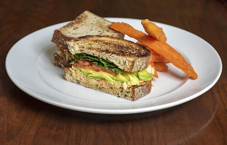 """<p>Egg salad's cousin, tuna salad, also makes for a great sandwich ingredient. Homemade chipotle mayo and jalapenos give the salad a spicy, savory twist that's way more complex than regular old tuna salad. Use the leftover chipotle mayo as a stellar dipping sauce for sweet potato fries or a condiment for <a href=""""https://www.thedailymeal.com/sandwich-recipes-better-than-mom-made-gallery?referrer=yahoo&category=beauty_food&include_utm=1&utm_medium=referral&utm_source=yahoo&utm_campaign=feed"""" rel=""""nofollow noopener"""" target=""""_blank"""" data-ylk=""""slk:your next great sandwich"""" class=""""link rapid-noclick-resp"""">your next great sandwich</a>.</p> <p><a href=""""https://www.thedailymeal.com/recipes/smoked-jalapeno-tuna-salad-sandwich-recipe?referrer=yahoo&category=beauty_food&include_utm=1&utm_medium=referral&utm_source=yahoo&utm_campaign=feed"""" rel=""""nofollow noopener"""" target=""""_blank"""" data-ylk=""""slk:For the Smoked Jalapeño Tuna Salad Sandwich recipe, click here."""" class=""""link rapid-noclick-resp"""">For the Smoked Jalapeño Tuna Salad Sandwich recipe, click here.</a></p>"""