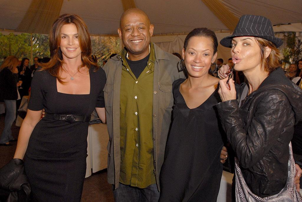 """Cindy Crawford, Forest Whitaker, Keisha Whitaker, and Lisa Rinna attend a celebrity event to benefit the crisis in Darfur. In 2006, United Nations officials estimated 400,000 people died and another 2 million people were displaced due to the ethnic and tribal conflict in Sudan. Michael Caulfield/<a href=""""http://www.wireimage.com"""" target=""""new"""">WireImage.com</a> - December 8, 2007"""