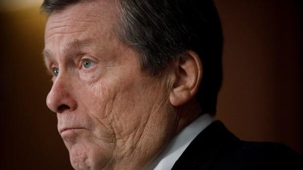 Toronto Mayor John Tory speaks during a press conference on Feb 29, 2020.  (The Canadian Press/Cole Burston - image credit)