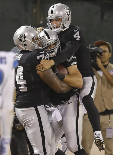 Carr returns to practice for Raiders