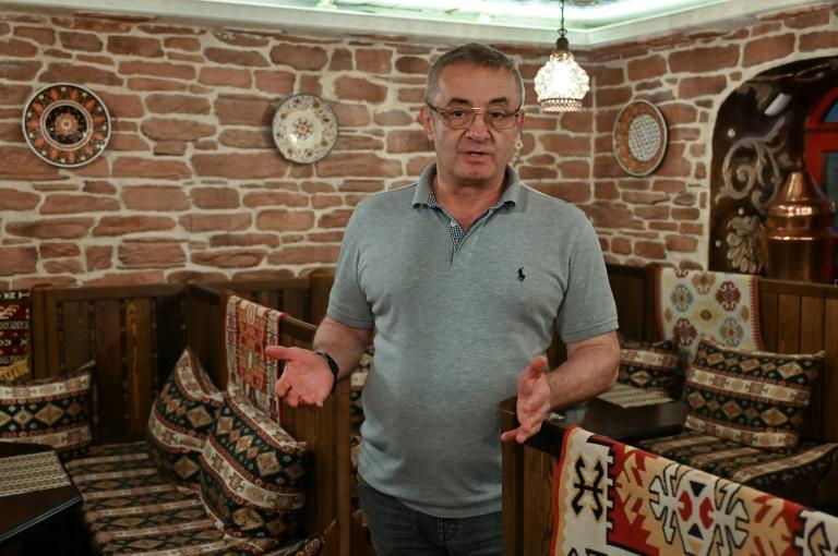 Eskender Budzhurov, who was born in Uzbekistan and fled Crimea after Moscow's takeover, says Kiev has become a 'second home' for him (AFP/GENYA SAVILOV)