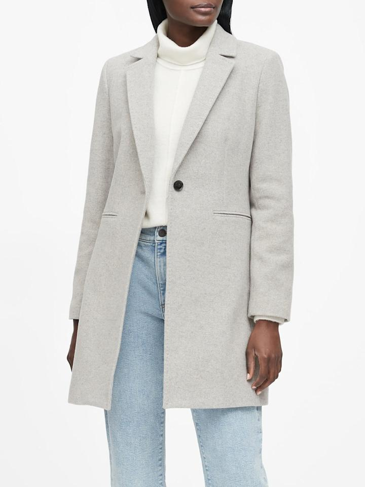"""<p>This <a href=""""https://www.popsugar.com/buy/Banana-Republic-Italian-Melton-Topcoat-501136?p_name=Banana%20Republic%20Italian%20Melton%20Topcoat&retailer=bananarepublic.gap.com&pid=501136&price=299&evar1=fab%3Auk&evar9=46758398&evar98=https%3A%2F%2Fwww.popsugar.com%2Ffashion%2Fphoto-gallery%2F46758398%2Fimage%2F46758407%2FBanana-Republic-Italian-Melton-Topcoat&list1=shopping%2Cbanana%20republic%2Ccoats%2Cwinter%2Couterwear%2Cwinter%20fashion&prop13=api&pdata=1"""" rel=""""nofollow"""" data-shoppable-link=""""1"""" target=""""_blank"""" class=""""ga-track"""" data-ga-category=""""Related"""" data-ga-label=""""https://bananarepublic.gap.com/browse/product.do?pid=487725012&amp;cid=1091938&amp;pcid=99915&amp;vid=1&amp;grid=pds_29_102_1#pdp-page-content"""" data-ga-action=""""In-Line Links"""">Banana Republic Italian Melton Topcoat</a> ($299) is the kind of silhouette that can be easily layered. Once you have it, you'll wonder how you ever lived without it.</p>"""