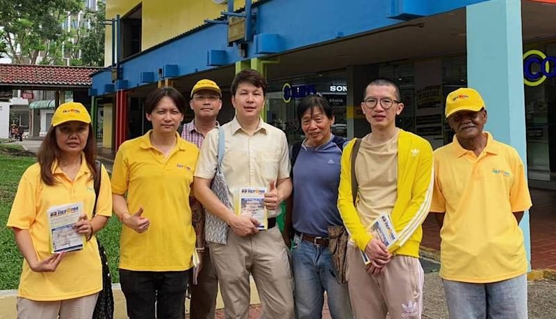 Reform Party members during a walkabout visit in 2019. (PHOTO: Reform Party/Facebook)