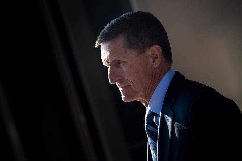 Michael Flynn, former national security adviser to US President Donald Trump, is to be sentenced for lying to investigators about his Russia ties (AFP Photo/Brendan Smialowski)