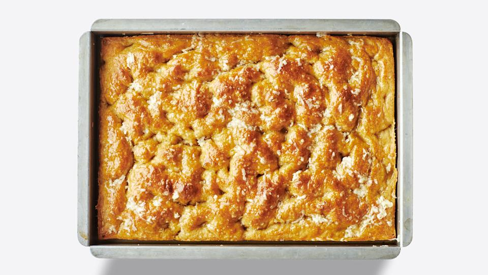 "<a href=""https://www.bonappetit.com/recipe/easy-no-knead-focaccia?mbid=synd_yahoo_rss"" rel=""nofollow noopener"" target=""_blank"" data-ylk=""slk:See recipe."" class=""link rapid-noclick-resp"">See recipe.</a>"