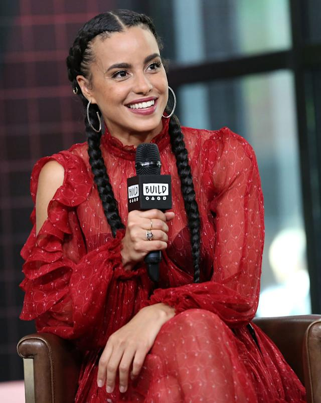 Actress Parisa Fitz-Henley visits Build Studio to talk about <em>Harry & Meghan: A Royal Romance</em> on Monday in New York City. (Photo: Monica Schipper/Getty Images)