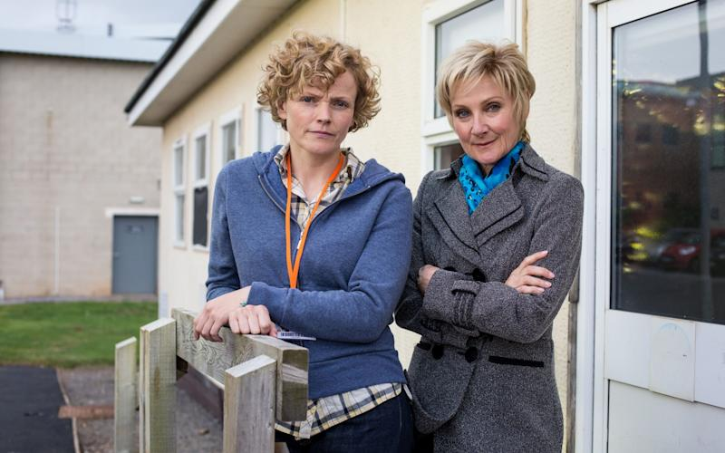 Maxine Peake and Lesley Sharp in Three Girls - Credit: Sophie Mutevelian/BBC
