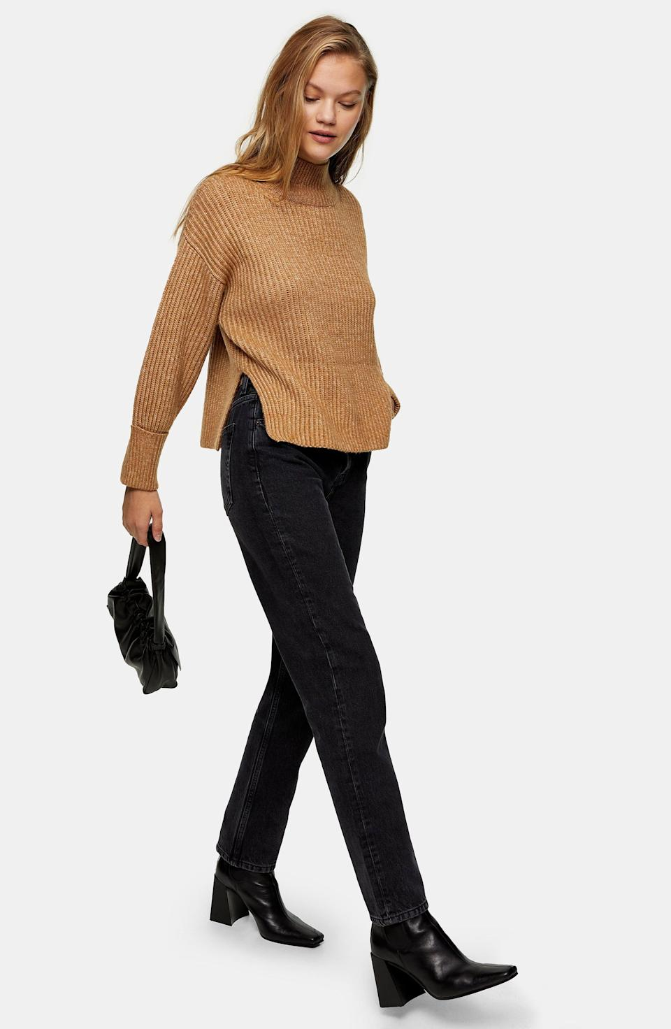 """<p><strong>TOPSHOP</strong></p><p>nordstrom.com</p><p><strong>$39.00</strong></p><p><a href=""""https://go.redirectingat.com?id=74968X1596630&url=https%3A%2F%2Fwww.nordstrom.com%2Fs%2Ftopshop-mock-neck-crop-sweater%2F5724824&sref=https%3A%2F%2Fwww.marieclaire.com%2Ffashion%2Fg35090742%2Fnordstrom-half-yearly-sale-2020%2F"""" rel=""""nofollow noopener"""" target=""""_blank"""" data-ylk=""""slk:Shop Now"""" class=""""link rapid-noclick-resp"""">Shop Now</a></p>"""