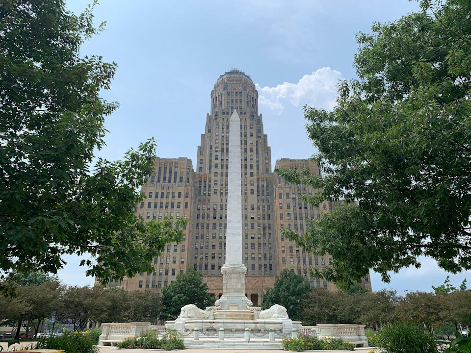 exterior shot of the city hall in buffalo new york