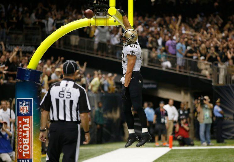 Jimmy Graham, going for that perfect 10. (Getty)