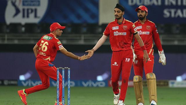 Mohammed Shami picked three wicket while Arshdeep took a five-wicket haul as Punjab bowled out RR for 185. Sportzpics