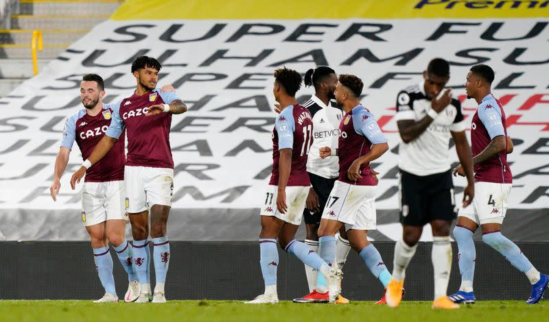 Villa beat Fulham 3-0 to move into top four