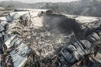 Destroyed: The remains of the Amcor Flexibles packaging plant on the outskirts of Durban