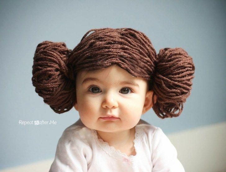 """<p>Of course, if your little one's hair isn't quite long enough, you can always DIY a wig.</p><p><strong>Get the tutorial at <a href=""""http://www.repeatcrafterme.com/2014/05/princess-leia-yarn-wig.html"""" rel=""""nofollow noopener"""" target=""""_blank"""" data-ylk=""""slk:Repeat Crafter Me"""" class=""""link rapid-noclick-resp"""">Repeat Crafter Me</a>.</strong><br></p><p><strong><a class=""""link rapid-noclick-resp"""" href=""""https://www.amazon.com/Lion-Brand-860-126-Lb860-126-Yarn/dp/B003D7YXQ4?tag=syn-yahoo-20&ascsubtag=%5Bartid%7C10050.g.21287723%5Bsrc%7Cyahoo-us"""" rel=""""nofollow noopener"""" target=""""_blank"""" data-ylk=""""slk:SHOP BROWN YARN"""">SHOP BROWN YARN</a></strong></p>"""