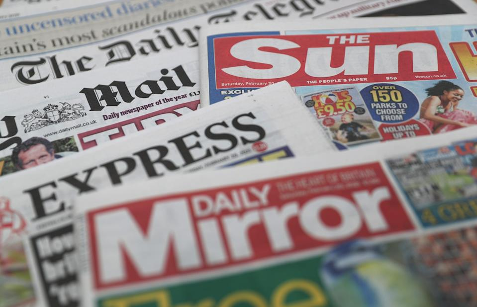 What the papers say – July 27 (PA) (PA Wire)