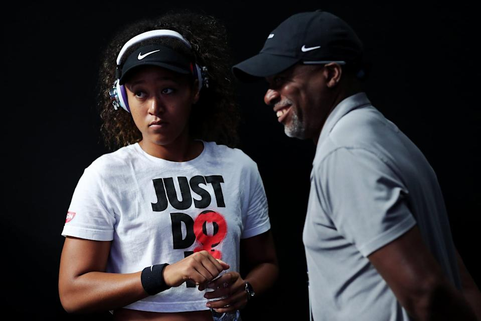 """<p>Though she's now coached by Wim Fissette - who has worked with tennis greats including Victoria Azarenka, Kim Clijsters, Simona Halep, and Angelique Kerber - Osaka first began playing tennis under her dad Leonard François, who used a similar model to that of Serena and Venus Williams's father, training both Osaka and <a href=""""https://www.popsugar.com/celebrity/naomi-osaka-and-her-sister-mari-pictures-48418011"""" class=""""link rapid-noclick-resp"""" rel=""""nofollow noopener"""" target=""""_blank"""" data-ylk=""""slk:her sister Mari"""">her sister Mari</a>, starting at the age of 3.</p>"""