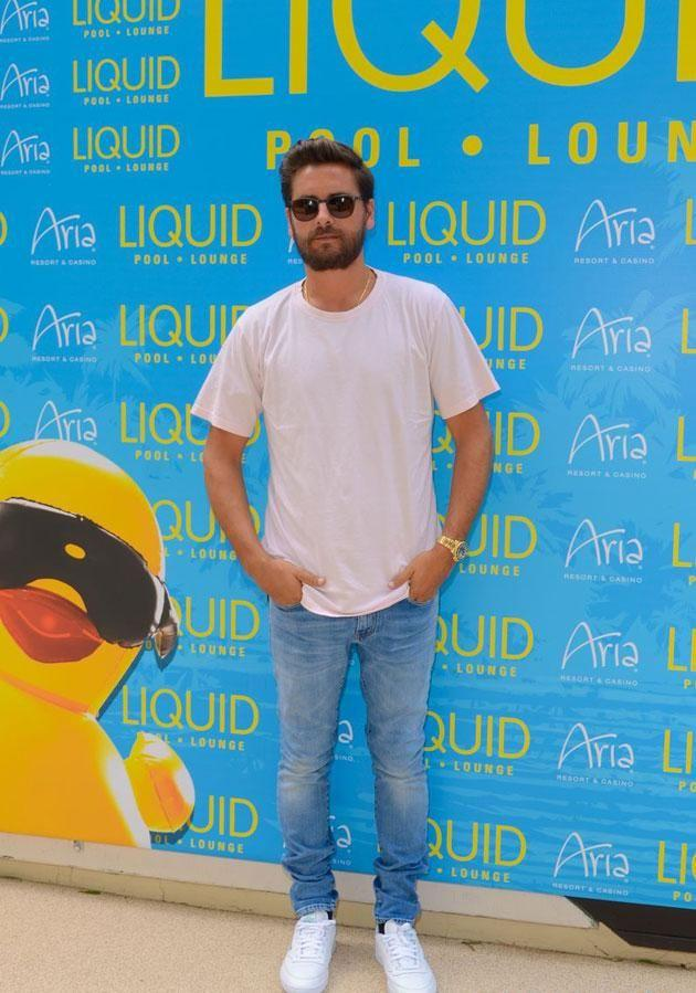 Kourtney's ex was in Vegas for promotional work, including a party at Liquid Pool Lounge. Source: Facebook