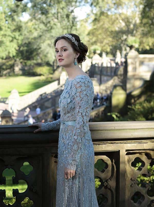 <p>If anyone could pull off a nontraditional blue wedding dress, it's Blair Waldorf, who ended up getting married to (and then arrested with) Chuck Bass in the sixth season of the <em>Gossip Girl</em> series. </p>