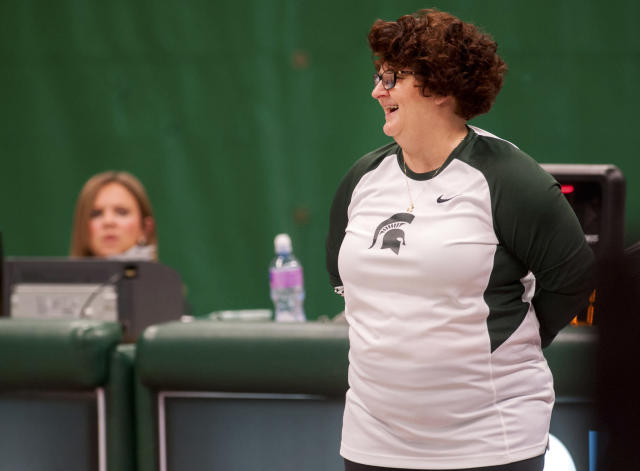 Former Michigan State University gymnastics head coach Kathie Klages was charged Thursday, Aug. 23, 2018 with lying to police amid an investigation into the school's handling of sexual abuse complaints against former sports doctor Larry Nassar. (AP)